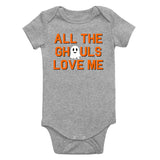 All The Ghouls Love Me Halloween Infant Baby Boys Bodysuit Grey