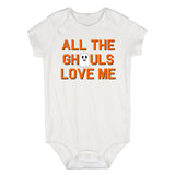 All The Ghouls Love Me Halloween Infant Baby Boys Bodysuit White