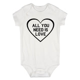 All You Need Is Love Baby Bodysuit One Piece White