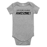 Already Awesomeunfinished Baby Bodysuit One Piece Grey