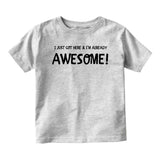 Already Awesomeunfinished Baby Infant Short Sleeve T-Shirt Grey