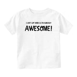 Already Awesomeunfinished Baby Infant Short Sleeve T-Shirt White