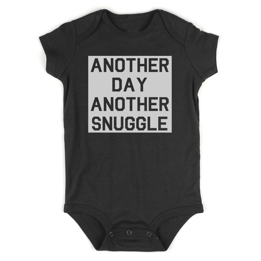 Another Day Another Snuggle Baby Bodysuit One Piece Black