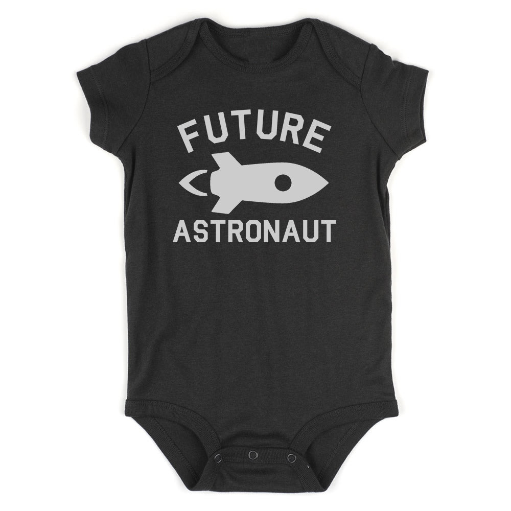 Astronaut Future Baby Bodysuit One Piece Black