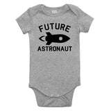 Astronaut Future Baby Bodysuit One Piece Grey