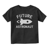 Astronaut Future Baby Toddler Short Sleeve T-Shirt Black