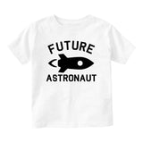 Astronaut Future Baby Toddler Short Sleeve T-Shirt White