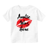 Auntie Was Here Baby Infant Short Sleeve T-Shirt White