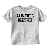 Aunties MCM Baby Infant Short Sleeve T-Shirt Grey