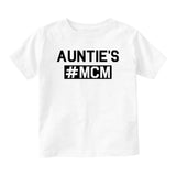 Aunties MCM Baby Infant Short Sleeve T-Shirt White