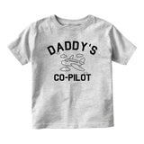 Aviator Daddys Co Pilot Baby Infant Short Sleeve T-Shirt Grey