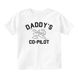 Aviator Daddys Co Pilot Baby Infant Short Sleeve T-Shirt White