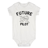 Aviator Future Pilot Baby Bodysuit One Piece White