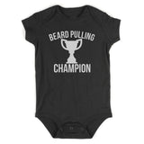Beard Pulling Champion Unfinishedbeard Baby Bodysuit One Piece Black