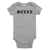 Bella Girl Goth Baby Bodysuit One Piece Grey