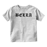 Bella Girl Goth Baby Infant Short Sleeve T-Shirt Grey