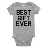Best Gift Ever Baby Bodysuit One Piece Grey