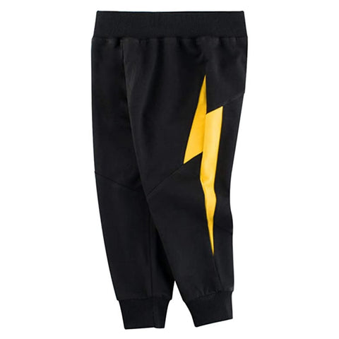 Black And Yellow Lightning Toddler Boys Sweatpants
