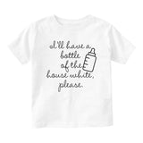 Bottle House White Milk Funny Baby Infant Short Sleeve T-Shirt White