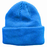 Cerulean Blue Toddler Boys Girls Cuffed Winter Beanie Hat