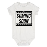 Coming Soon Baby Movie Baby Bodysuit One Piece White