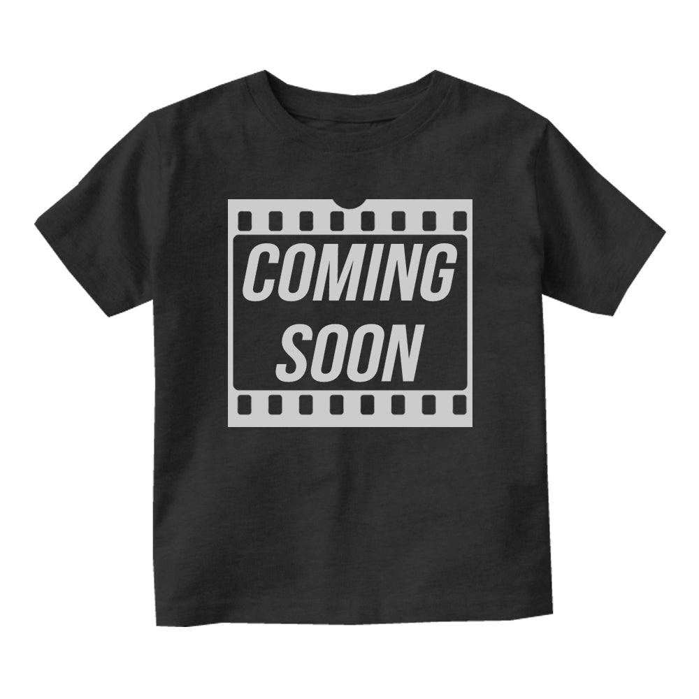 Coming Soon Baby Movie Baby Infant Short Sleeve T-Shirt Black