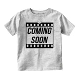Coming Soon Baby Movie Baby Infant Short Sleeve T-Shirt Grey