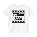 Coming Soon Baby Movie Baby Infant Short Sleeve T-Shirt White