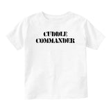 Cuddle Commander Baby Toddler Short Sleeve T-Shirt White