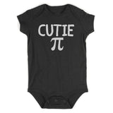 Cutie Pi Symbol Math Baby Bodysuit One Piece Black