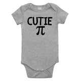 Cutie Pi Symbol Math Baby Bodysuit One Piece Grey