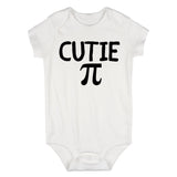 Cutie Pi Symbol Math Baby Bodysuit One Piece White
