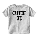 Cutie Pi Symbol Math Baby Toddler Short Sleeve T-Shirt Grey