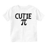 Cutie Pi Symbol Math Baby Toddler Short Sleeve T-Shirt White
