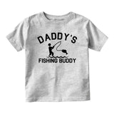 Daddys Fishing Buddy Baby Infant Short Sleeve T-Shirt Grey