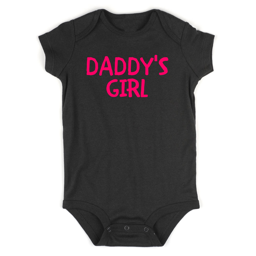 Daddys Girl Pink Baby Bodysuit One Piece Black