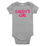 Daddys Girl Pink Baby Bodysuit One Piece Grey