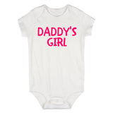 Daddys Girl Pink Baby Bodysuit One Piece White