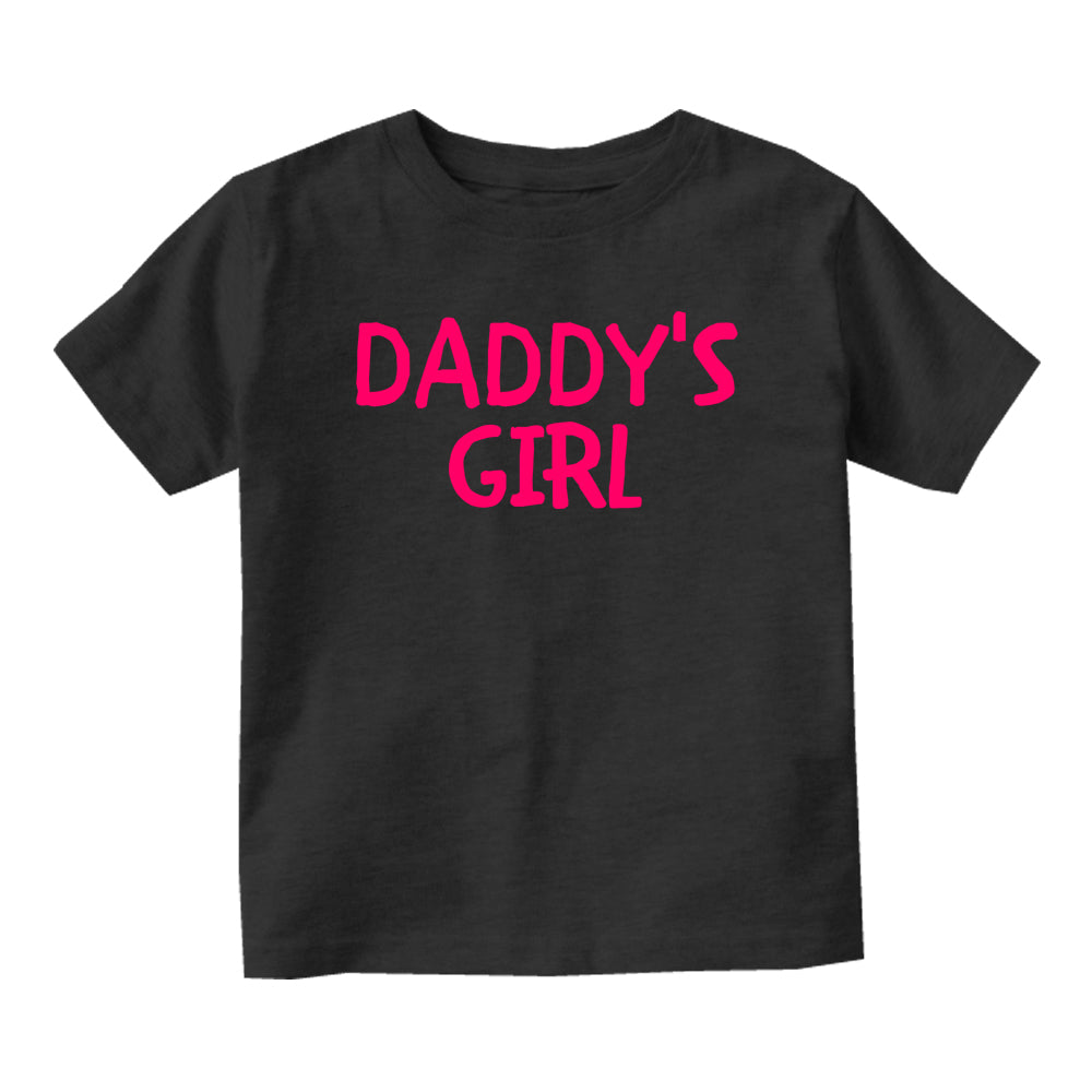 Daddys Girl Pink Baby Toddler Short Sleeve T-Shirt Black