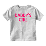 Daddys Girl Pink Baby Toddler Short Sleeve T-Shirt Grey