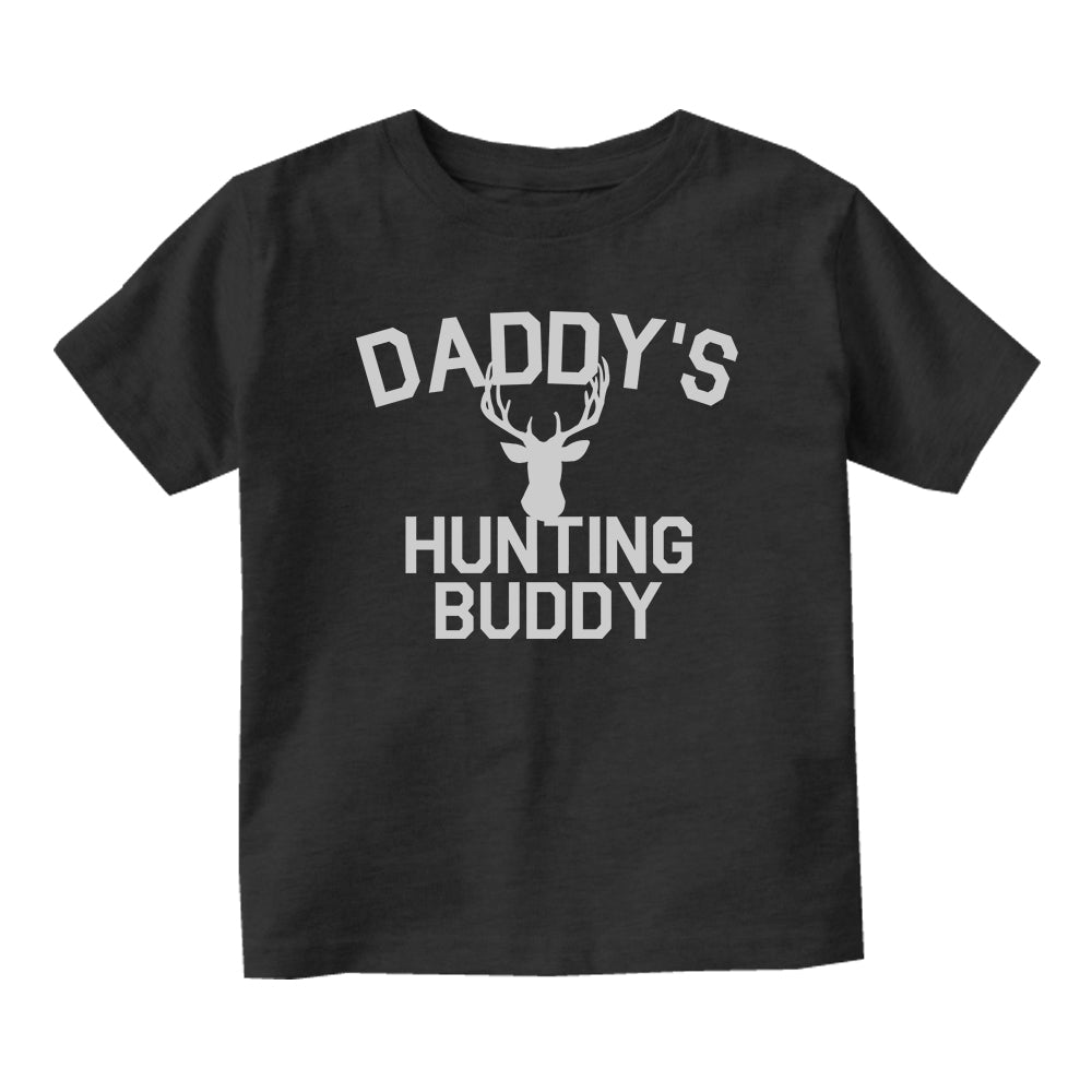 Daddys Hunting Buddy Deer Antlers Baby Infant Short Sleeve T-Shirt Black