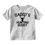 Daddys Hunting Buddy Deer Antlers Baby Infant Short Sleeve T-Shirt Grey
