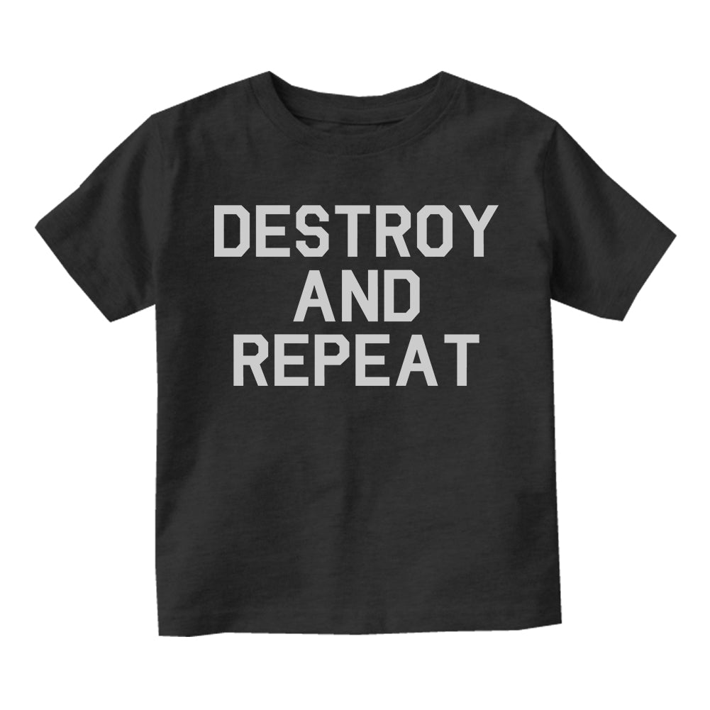 Destroy And Repeat Infant Baby Boys Short Sleeve T-Shirt Black