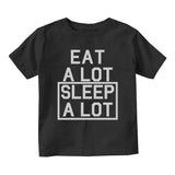 Eat A Lot Sleep A Lot Baby Infant Short Sleeve T-Shirt Black