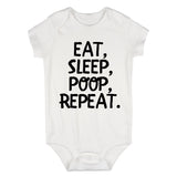 Eat Sleep Poop Funny Baby Bodysuit One Piece White