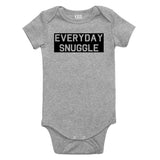 Everyday Snuggle Cuddles Baby Bodysuit One Piece Grey