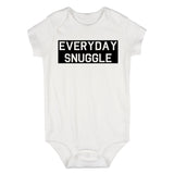 Everyday Snuggle Cuddles Baby Bodysuit One Piece White
