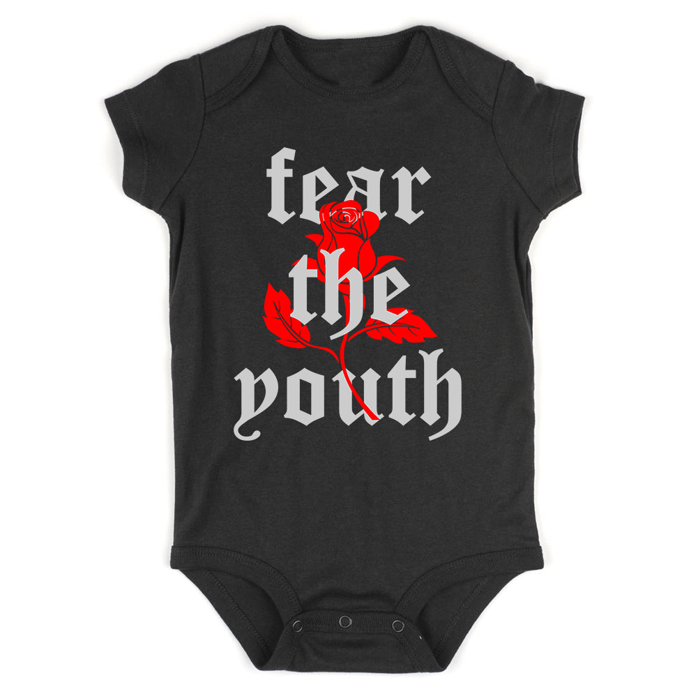 Fear The Youth Rose Infant Baby Boys Bodysuit Black