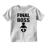 Final Boss Baby Baby Toddler Short Sleeve T-Shirt Grey