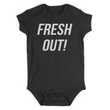 Fresh Out Birth Baby Bodysuit One Piece Black